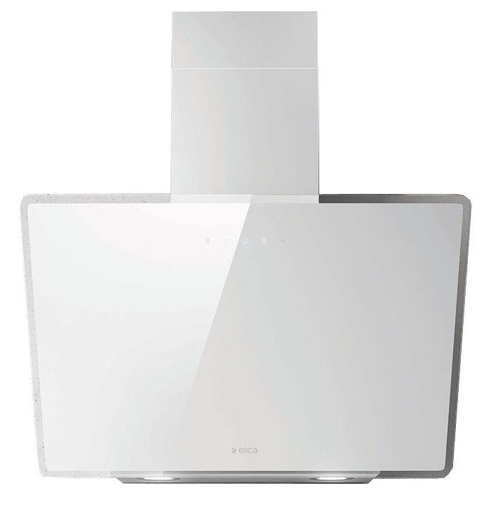 Elica SHIRE WH/A/60 60cm wide designer cooker hood in white glass