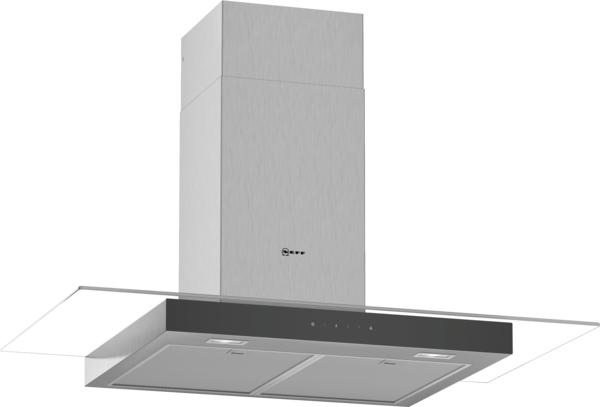 Neff D94GFM1N0B 90cm wide chimney hood with flat glass