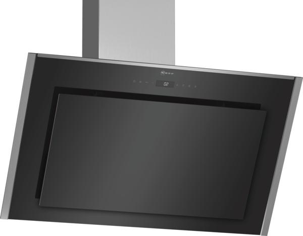 Neff D95IMT1N0B Angled black glass cooker hood