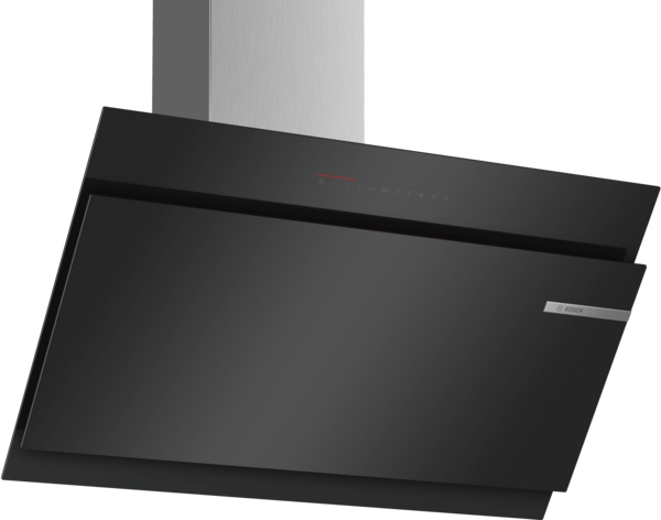 Bosch DWK97JQ60B 90cm wide Angled Glass cooker hood in black