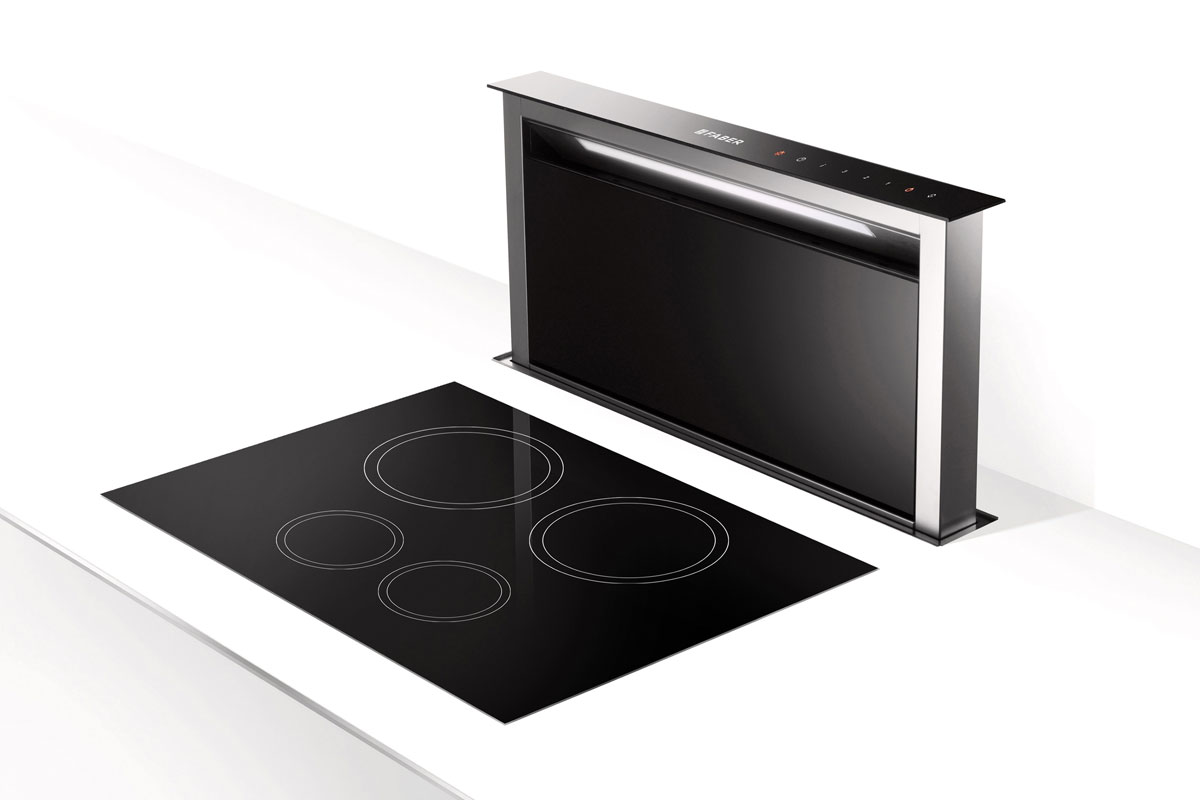 Faber Fabula Black RB Downdraft extractor with Mistral External Motor