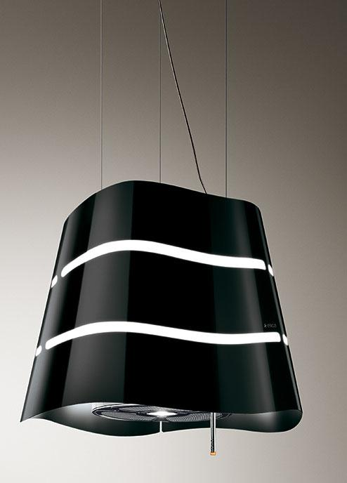 Elica FLOW-BLK Ceiling or Wall mounted Cooker Hood in Black