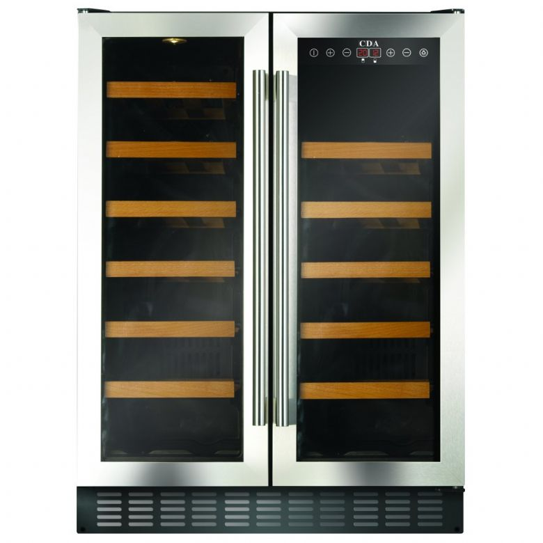 Counter Height Wine Cooler : CDA FWC623SS 600mm Under Counter Wine Cooler