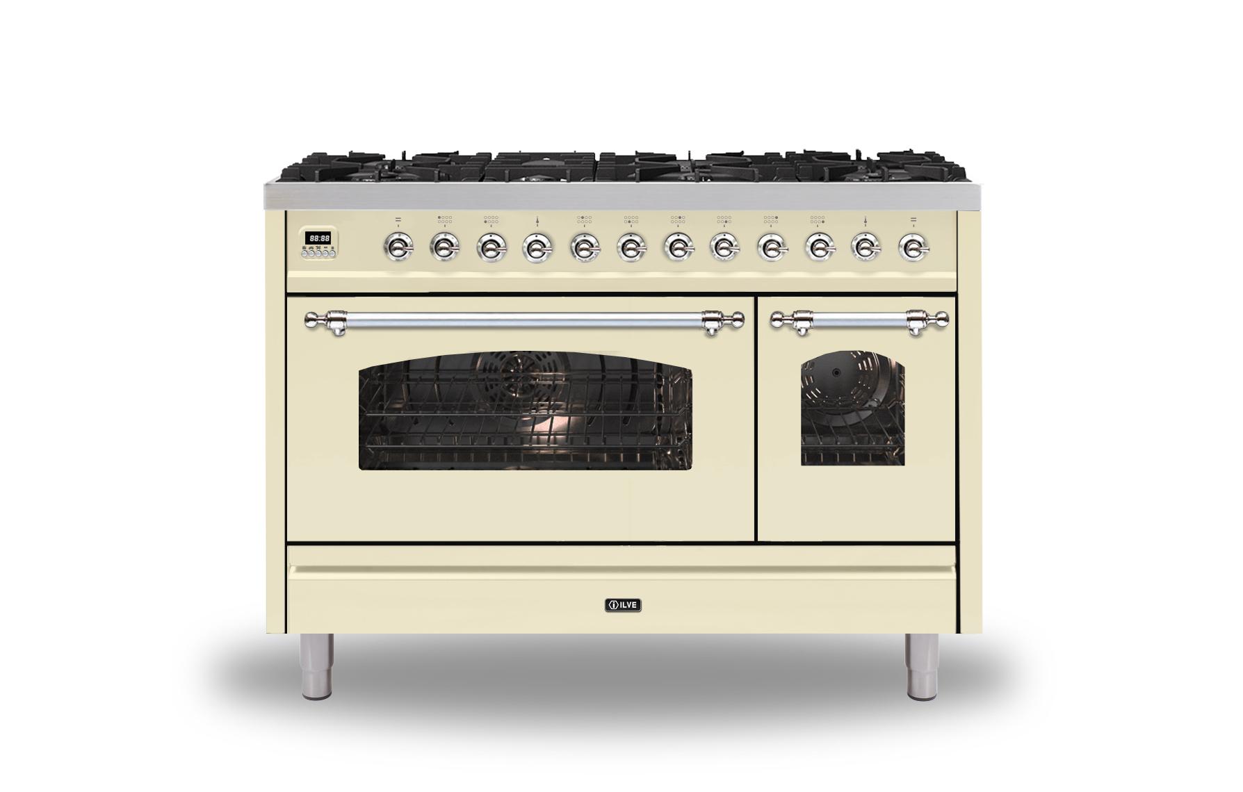 ILVE Milano P128NE3 120cm cooker 90cm + 30cm ovens and 8 gas burner top