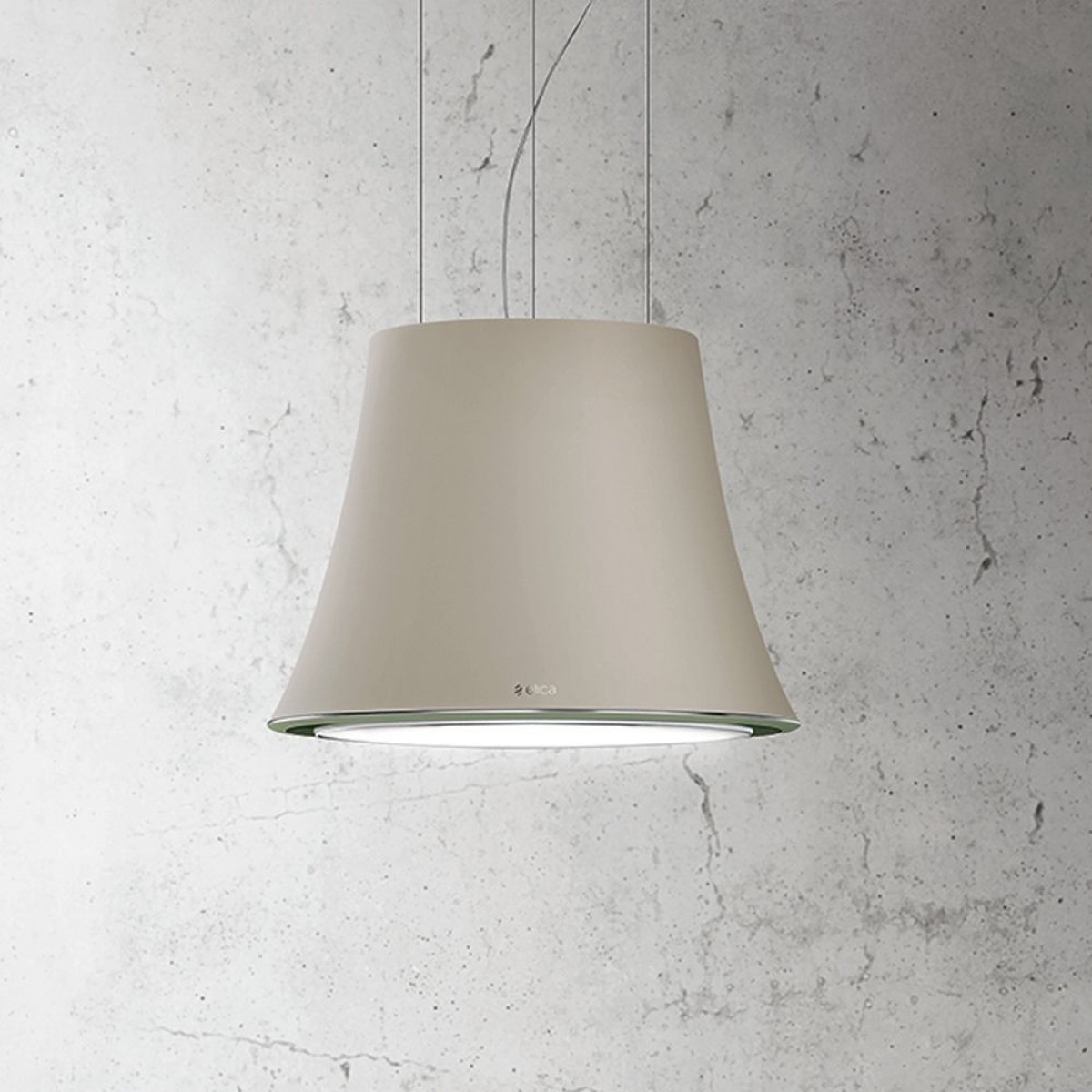 Elica BELLE-JAZZ Decorative Ceiling or Wall mounted Cooker Hood in Neutral finish