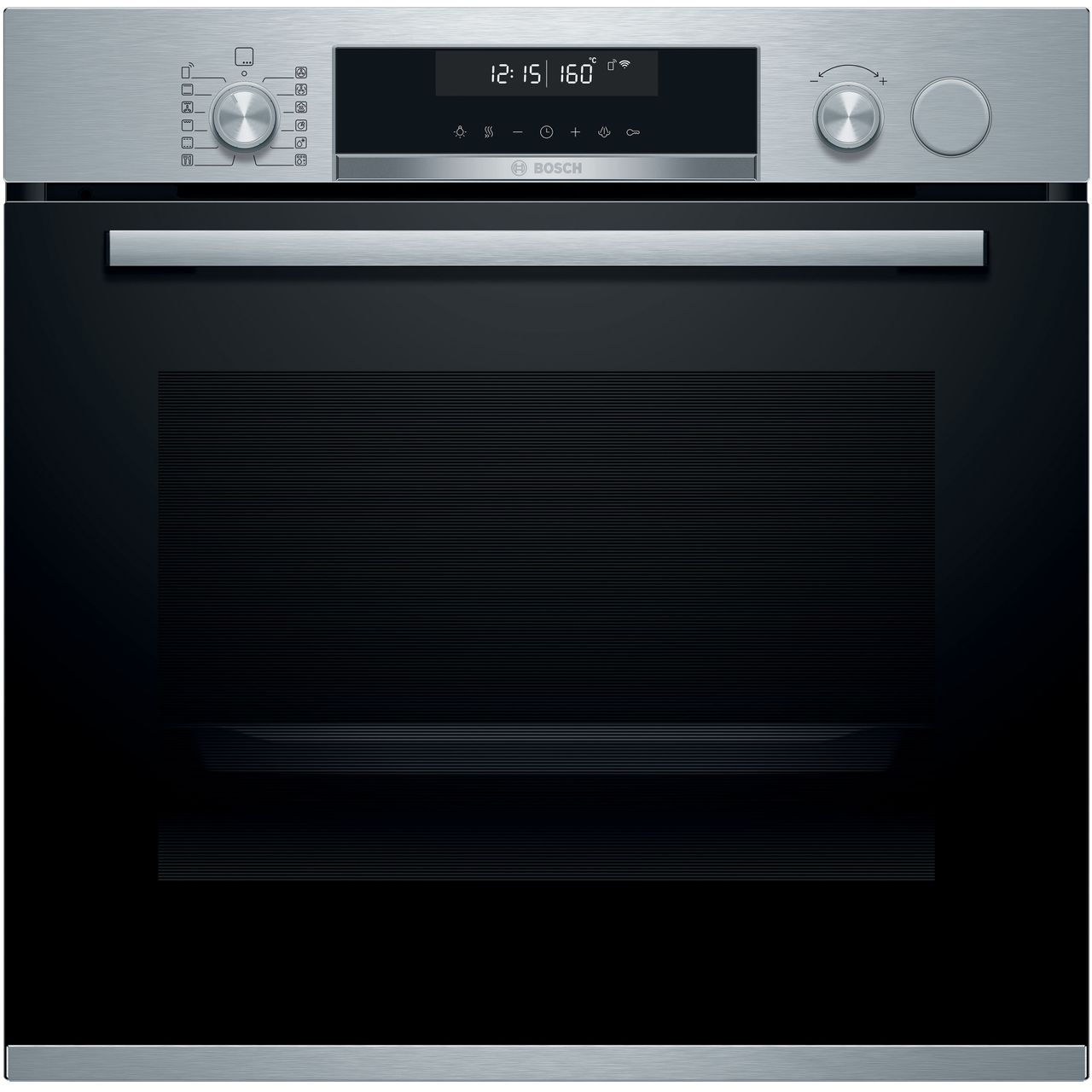 Bosch HRS578BS6B Singe Pyrolytic Self Clean Oven with Added Steam