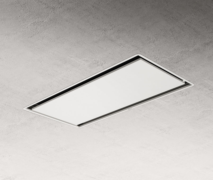 Elica ILLUSION16-WH 100cm ceiling hood in white - 16cm shallow depth version