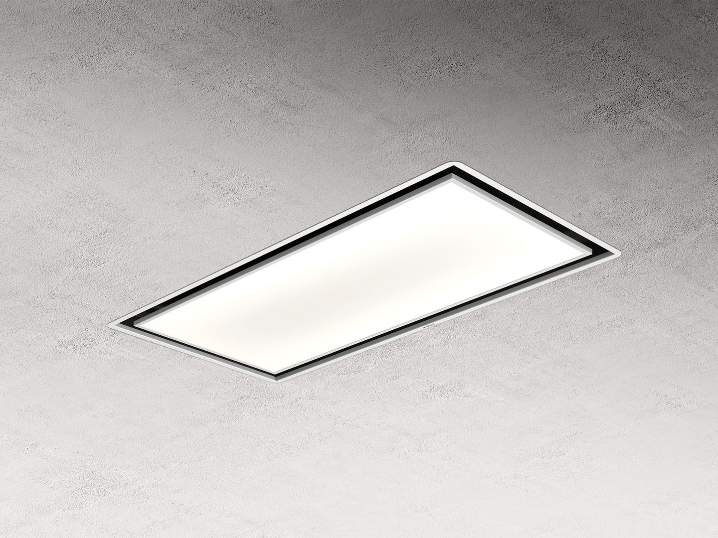 Elica SKYDOME30 100cm wide ceiling hood in white - 30cm depth version