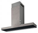 Elica HAIKU-90-CC 90cm wide wall mounted cooker hood in Concrete effect finish