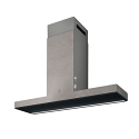 Elica HAIKU-120-CC 120cm wide wall mounted cooker hood in Concrete Effect Finish