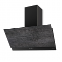 Faber GREXIA GRES DG/BK A90 90cm wide cooker hood with Dark Grey Stoneware finish