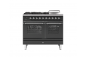 ILVE Milano PD10SNE3 100cm cooker 60cm + 40cm ovens and 4 burner gas top with Coup de Feu