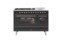 ILVE Milano P12SNE3 120cm cooker 90cm + 30cm ovens and 5 gas burner top & Coup de Feu