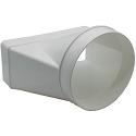 "AA-DUCT004 220mm x 90mm rectangular to 150mm / 6"" Ducting Adaptor"