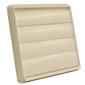 """AA-DUCT008 150mm / 6"""" Beige External Grille with Non Return gravity flaps"""