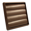 """AA-DUCT009 150mm / 6"""" Brown External Grille with Non Return gravity flaps"""