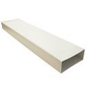 AA-DUCT010 220mm x 90mm rectangular flat channel pipe  - 1 metre length