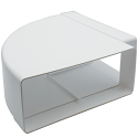 AA-DUCT013 220mm x 90mm rectangular 90 Degree Horizontal Elbow Bend