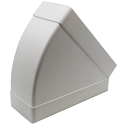 AA-DUCT014 220mm x 90mm rectangular 45 Degree Horizontal Elbow Bend