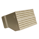 AA-DUCT016 220mm x 90mm rectangular Airbrick Adaptor with fitted grilles in Beige