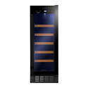 Amica AWC301BL 30cm wide freestanding wine cooler in Black