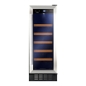 Amica AWC301SS 30cm wide freestanding wine cooler in Stainless Steel