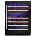 Amica AWC601BL 60cm wide freestanding wine cooler in Black