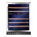 Amica AWC601SS 60cm wide freestanding wine cooler in Stainless Steel