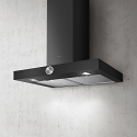 Elica ALPHA-60-BLK 60cm Wide Chimney hood in black