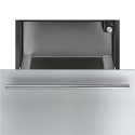 Smeg CR329X 29cm Height Classic Warming Drawer, Finger Friendly Stainless Steel