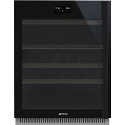 Smeg CVI638LWN2 60cm Under counter WIFI Wine Cooler, Eclipse Black Glass, Left Hand Hinged