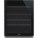 Smeg CVI638RWN2 60cm Under counter WIFI Wine Cooler, Eclipse Black Glass, Right Hand Hinged