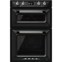 Smeg DOSF6920N1 'Victoria' traditional Multifunction Double Oven, Black Energy