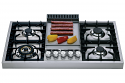 ILVE HAP95FC 90cm Roma Freestanding Gas Hob - 4 Burner and Fry Top