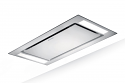 Faber Heaven Glass 2.0 120 cm  wide Ceiling hood in White Glass