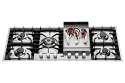 Ilve HP125FC Roma 120cm Gas Hob with 5 Burners & Fry Top