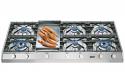 ILVE HP1265FD 120cm Professional Gas Hob - 6 Burner Fry Top