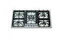 ILVE HP95C 90cm Roma Gas Hob - 5 Burner including central Wok burner
