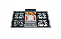 ILVE HP95FC 90cm Roma Gas Hob - 4 Burner with Fry Top