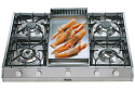 ILVE HP965FD 90cm Professional Gas Hob - 4 Burner with Fry Top