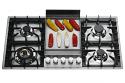Ilve HPT95FD Roma 90cm Flush Fit Gas Hob 4 Burners & Fry Top