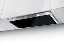 Faber Inca Lux Glass 70cm wide canopy hood with black glass panel