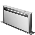 Smeg KDD90VXBE 90cm Island Downdraft Hood, Stainless Steel and White glass