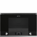 "Smeg MP122N1 ""Linea"" Microwave Oven with electric grill in Black"