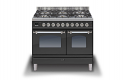 ILVE Milano PD106NE3 100cm cooker 60cm + 40cm ovens and 6 burner gas top