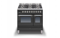 ILVE Milano PD096NE3 90cm cooker 60cm + 30cm ovens and 6 burner gas top