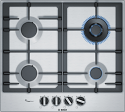 Bosch PCH6A5B90 60cm wide Stainless Steel Gas Hob