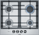 Bosch PCP6A5B90 60cm gas hob in Stainless Steel