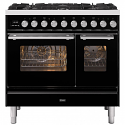 ILVE Roma PD096WE3 Ilve 90cm cooker with 60cm + 30cm ovens with 6 gas burner top