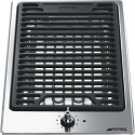 "Smeg PGF30B 31cm ""Domino"" Ultra Low Profile Stone Grill"